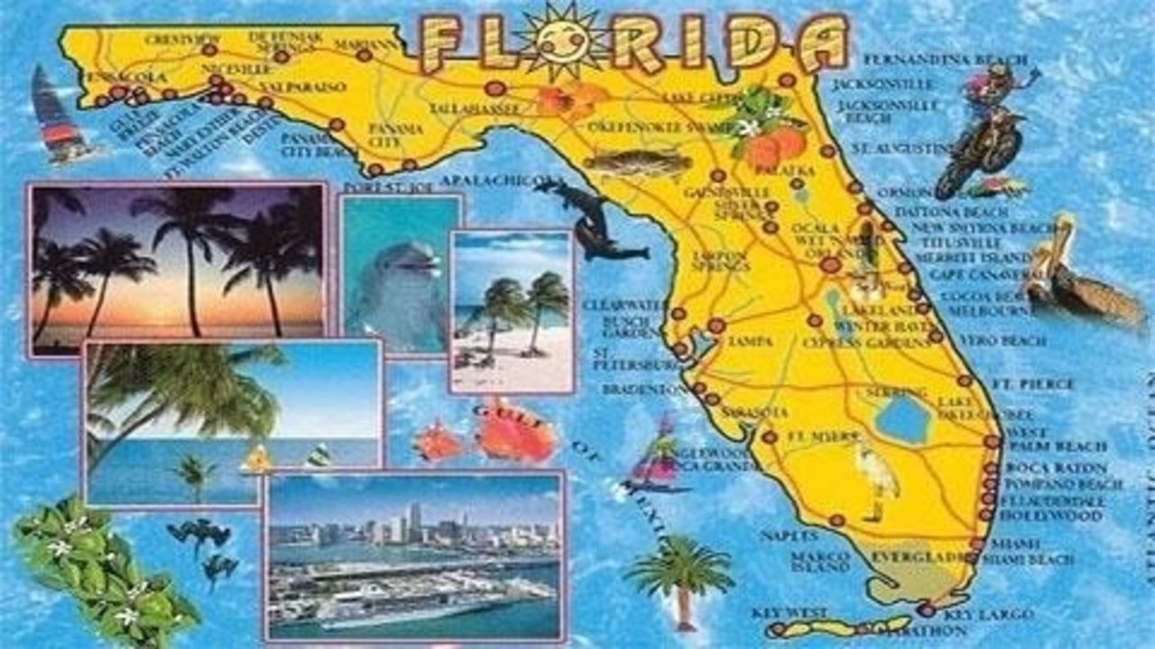 Florida Tourist Map 720 Shootung Tallahassee
