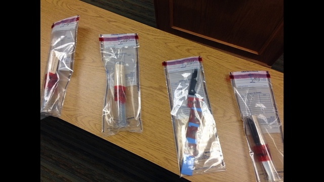 Knives found in girl's backpack