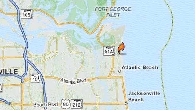 Atlantic Beach fire on Seminole Road