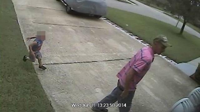 Burglar with boy