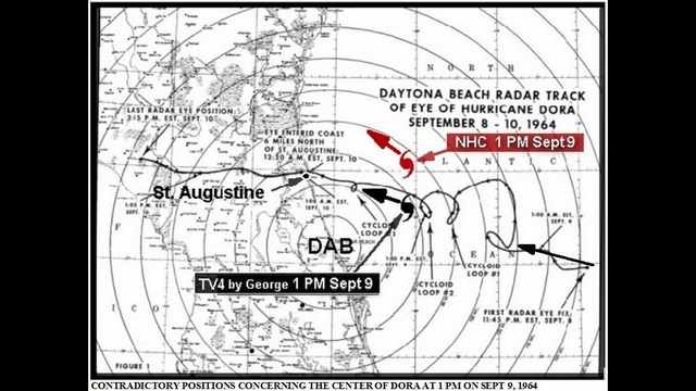 DAB radar map of Hurricane Dora