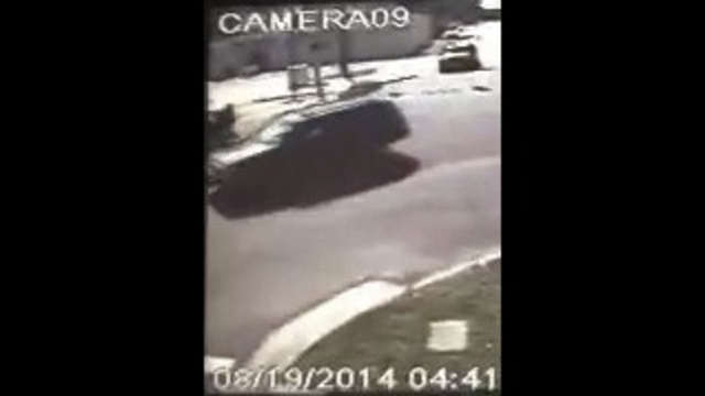 Surveillance video of hit-and-run on Main Street