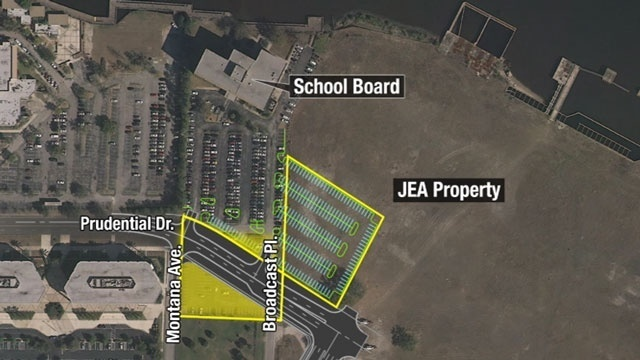 Map: School board, JEA land swap