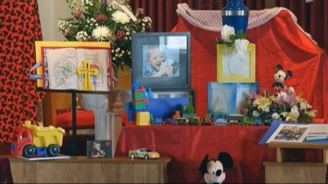 Morgan Calway's funeral