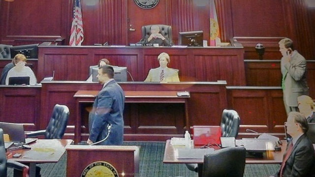 First video from inside Dunn trial courtroom
