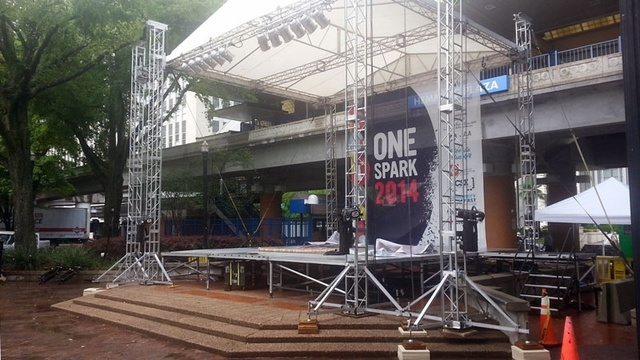 One Spark stage ready