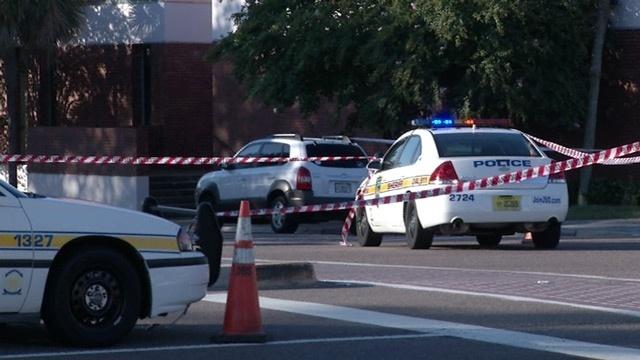 Pedestrian killed crossing Riverside Avenue