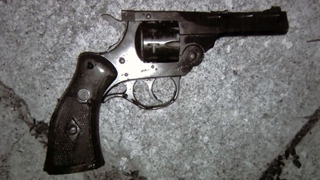 Jacksonville Sheriff's Office say Michael Keys pointed this gun at officers