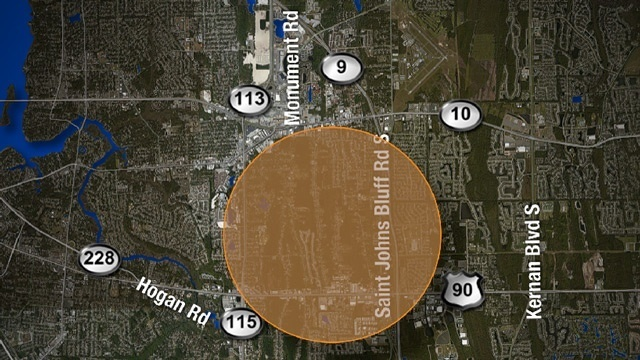 Duval County rabies alert map