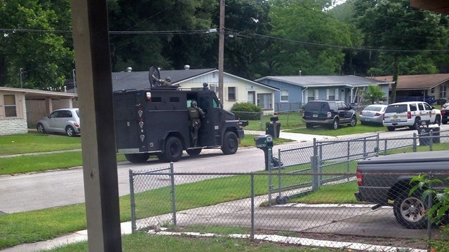 SWAT team on Centauri Road