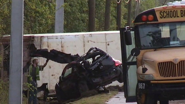 School bus in fatal crash