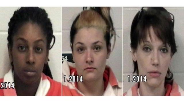 Solanch Dewey, Stephanie Coursey and Krystal Peeler