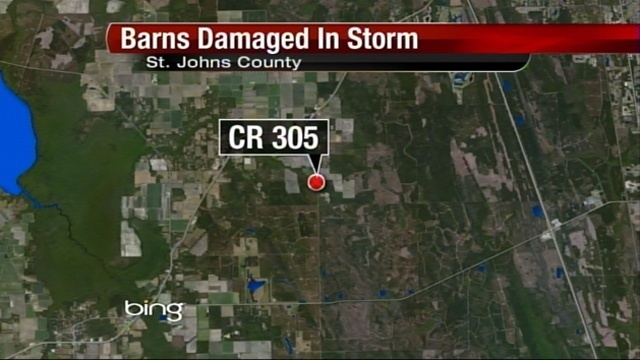 Storm damage map