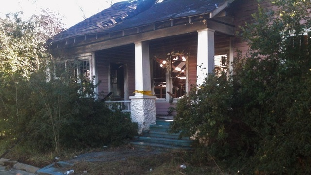 Waycross burned house