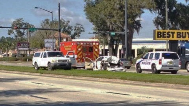 Wreck near Gainesville police shooting
