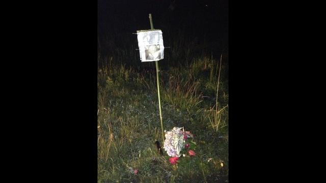 Whited makeshift memorial