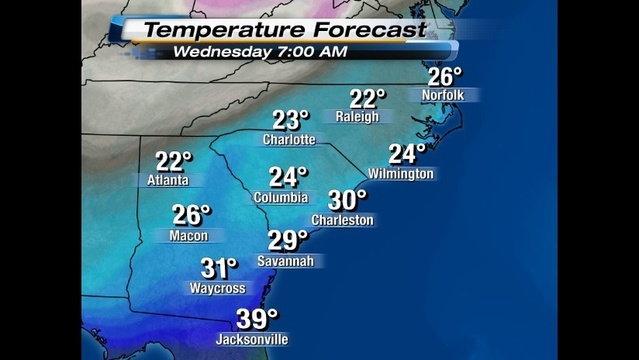Wakeup Temperatures Wednesday