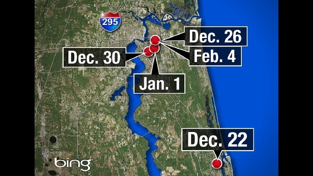 Map: Winn-Dixie rooftop burglaries