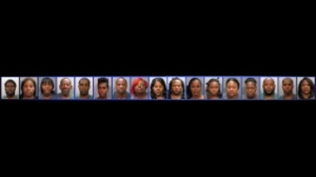 Operation Zig Zag mug shots strip