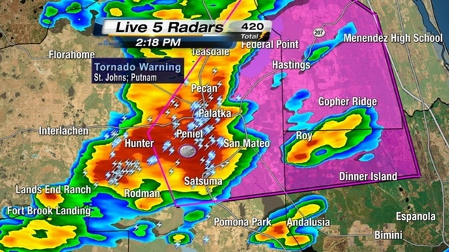 Putnam tornado radar