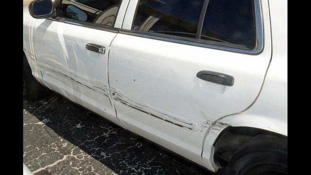 Rammed police car