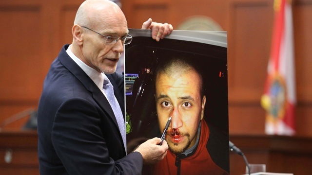 Zimmerman photo shown at trial