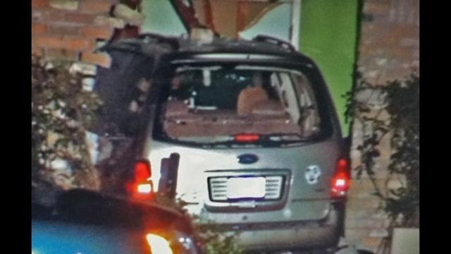 Van into house - closeup