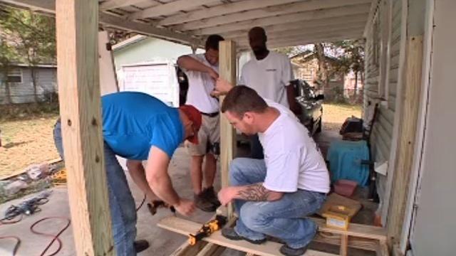 Allied Veterans builds ramp