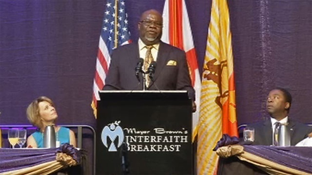 Bishop T.D. Jakes at Interfath Breakfast