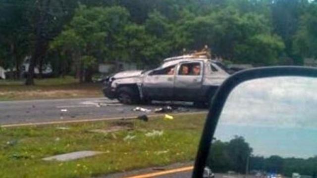 Crash on US 1 at Wildwood Drive