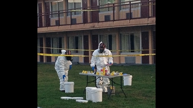 Days Inn meth lab hazmat team