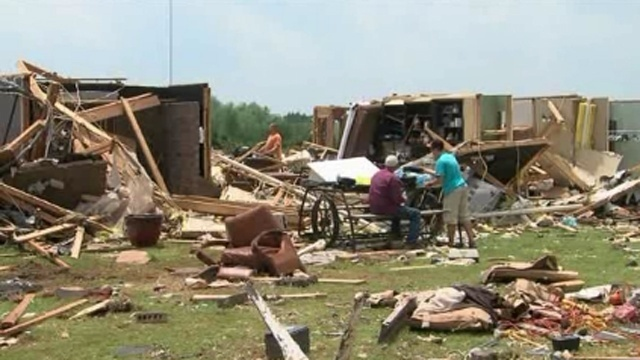 Family hides in cellar during tornado