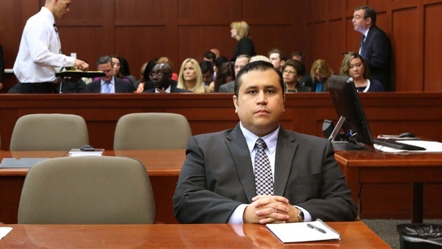 George Zimmerman Seated Trial