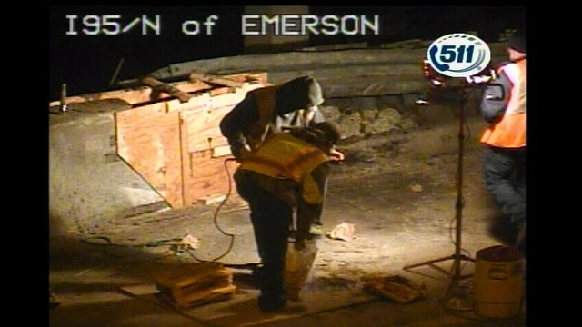 I-95 @ Emerson repair work