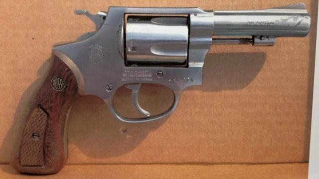 Lesley Cowan's gun