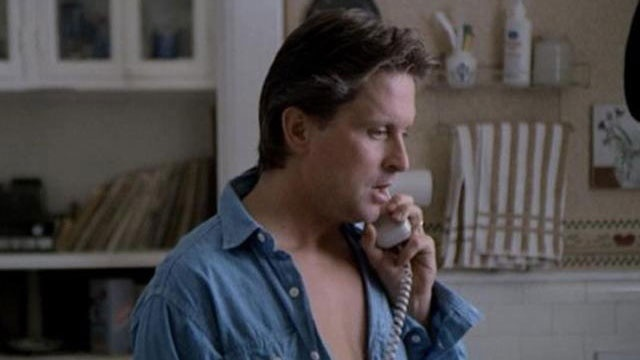 Michael Douglas on phone in Fatal Attraction