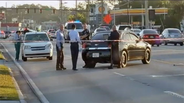 Pedestrian hit on University Blvd.