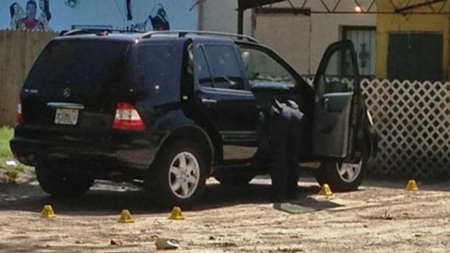 Shot up SUV on Washington Ave.