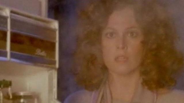Sigourney Weaver looking in fridge in Ghostbusters