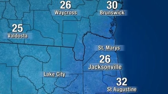 Sunday morning low temperatures