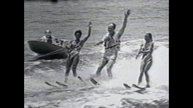 Mayor Hans Tanzler water skiing