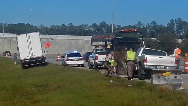 Wreck on I-295 @ Baymeadows Road