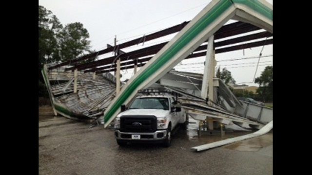BP roof collapse