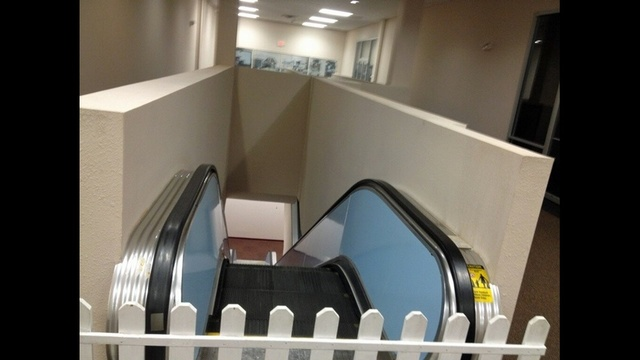 Broken escalator in SOE office