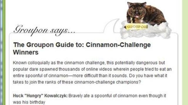 Cinnamon Challenge Groupon
