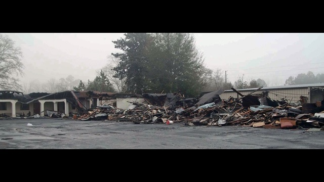 Aftermath of Folkston motel fire