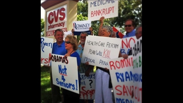 Republicans counter-rally at CVS