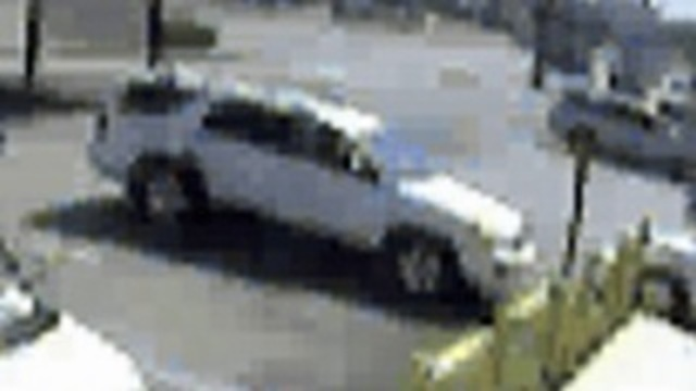 White SUV in pawn shop theft