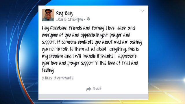Roy Bay Facebook post