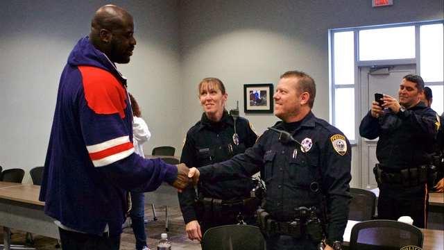 Shaq meets Officer Bobby White